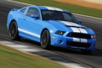 2013 Shelby GT500 Coupe in Grabber Blue - Driving Front Right Three-quarter View