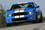 2013 Shelby GT500 Coupe in Grabber Blue - Driving Front Left View