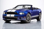 2013 Shelby GT500 Convertible in Deep Impact Blue Metallic - Static Front Left Three-quarter View