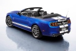 2013 Shelby GT500 Convertible in Deep Impact Blue Metallic - Static Rear Left Three-quarter View