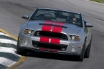 2013 Shelby GT500 Convertible in Ingot Silver Metallic - Driving Frontal View