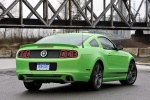 2014 Ford Mustang GT Coupe in Gotta Have It Green Metallic Tri-Coat - Static Rear Right View