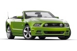 2014 Ford Mustang GT Convertible in Gotta Have It Green Metallic Tri-Coat - Static Front Right Three-quarter View