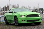 2014 Ford Mustang GT Coupe in Gotta Have It Green Metallic Tri-Coat - Static Front Right View