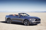 2015 Ford Mustang GT Convertible in Magnetic Metallic - Static Front Right Three-quarter View