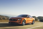 2018 Ford Mustang GT Fastback Performance Pack 1 in Orange Fury Metallic Tri-Coat - Driving Front Left Three-quarter View