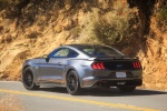 2018 Ford Mustang GT Fastback in Magnetic Metallic - Driving Rear Left Three-quarter View