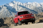 2010 Ford Ranger in Torch Red - Driving Front Right View