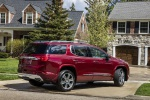 2019 GMC Acadia Denali in Red - Static Rear Right Three-quarter View