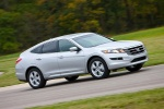 2010 Honda Accord Crosstour in Alabaster Silver Metallic - Driving Front Right Three-quarter View