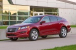 2011 Honda Accord Crosstour in San Marino Red - Static Front Left Three-quarter View