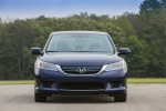 2015 Honda Accord Hybrid Sedan Touring in Obsidian Blue Pearl - Static Frontal View