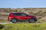 2019 Honda CR-V Touring AWD in Molten Lava Pearl - Driving Right Side View