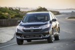 2019 Honda CR-V Touring AWD in Crystal Black Pearl - Driving Front Left View
