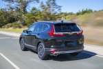 2019 Honda CR-V Touring AWD in Crystal Black Pearl - Driving Rear Left View