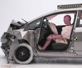 2010 Honda Fit IIHS Frontal Impact Crash Test Picture