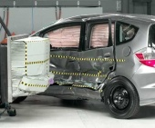 2010 Honda Fit IIHS Side Impact Crash Test Picture