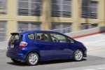 2010 Honda Fit Sport in Blue Sensation Pearl - Driving Rear Right Three-quarter View