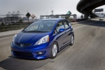 2010 Honda Fit Sport in Blue Sensation Pearl - Driving Front Left Three-quarter View