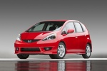 2010 Honda Fit Sport in Milano Red - Static Front Left View