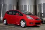 2010 Honda Fit in Milano Red - Static Front Right Three-quarter View