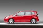 2010 Honda Fit Sport in Milano Red - Static Left Side View