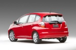 2010 Honda Fit Sport in Milano Red - Static Rear Left View