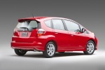 2011 Honda Fit Sport in Milano Red - Static Rear Right Three-quarter View
