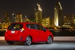 2015 Honda Fit in Milano Red - Static Rear Right View