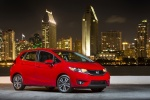 2017 Honda Fit in Milano Red - Static Front Right Three-quarter View