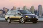 2011 Honda Odyssey Touring in Crystal Black Pearl - Static Front Right View
