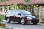 2011 Honda Odyssey Touring in Dark Cherry Pearl - Static Front Right Three-quarter View