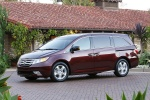 2011 Honda Odyssey Touring in Dark Cherry Pearl - Static Front Left Three-quarter View