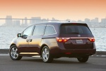 2011 Honda Odyssey Touring in Dark Cherry Pearl - Static Rear Left View