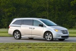 2011 Honda Odyssey Touring in Alabaster Silver Metallic - Static Front Right Three-quarter View