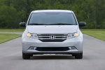 2011 Honda Odyssey Touring in Alabaster Silver Metallic - Static Frontal View