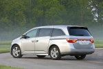 2011 Honda Odyssey Touring in Alabaster Silver Metallic - Static Rear Left Three-quarter View