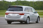 2011 Honda Odyssey Touring in Alabaster Silver Metallic - Driving Rear Right View