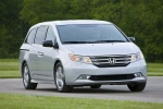 2011 Honda Odyssey Touring in Alabaster Silver Metallic - Driving Front Right View