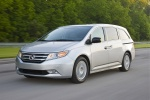 2011 Honda Odyssey Touring in Alabaster Silver Metallic - Driving Front Left Three-quarter View