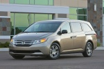 2011 Honda Odyssey Touring in Mocha Metallic - Static Front Left Three-quarter View