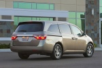 2011 Honda Odyssey Touring in Mocha Metallic - Static Rear Right Three-quarter View