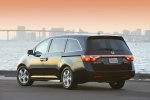 2011 Honda Odyssey Touring in Crystal Black Pearl - Static Rear Left View