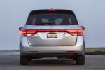 2015 Honda Odyssey Touring Elite in Alabaster Silver Metallic - Static Rear View