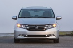 2015 Honda Odyssey Touring Elite in Alabaster Silver Metallic - Static Frontal View