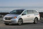 2015 Honda Odyssey Touring Elite in Alabaster Silver Metallic - Static Front Left Three-quarter View