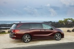 2018 Honda Odyssey Elite in Deep Scarlet Pearl - Static Rear Right Three-quarter View