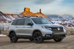 2020 Honda Passport Elite AWD in Lunar Silver Metallic - Static Front Right Three-quarter View
