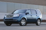 2015 Honda Pilot Touring in Obsidian Blue Pearl - Static Front Left Three-quarter View