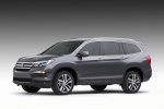 2016 Honda Pilot in Modern Steel Metallic - Static Front Left Three-quarter View